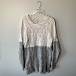 Gray and White Sweater
